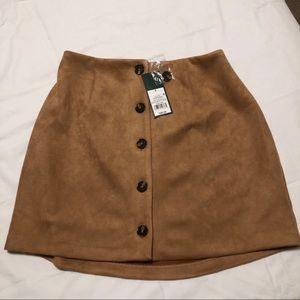 High-rise Button Down Skirt